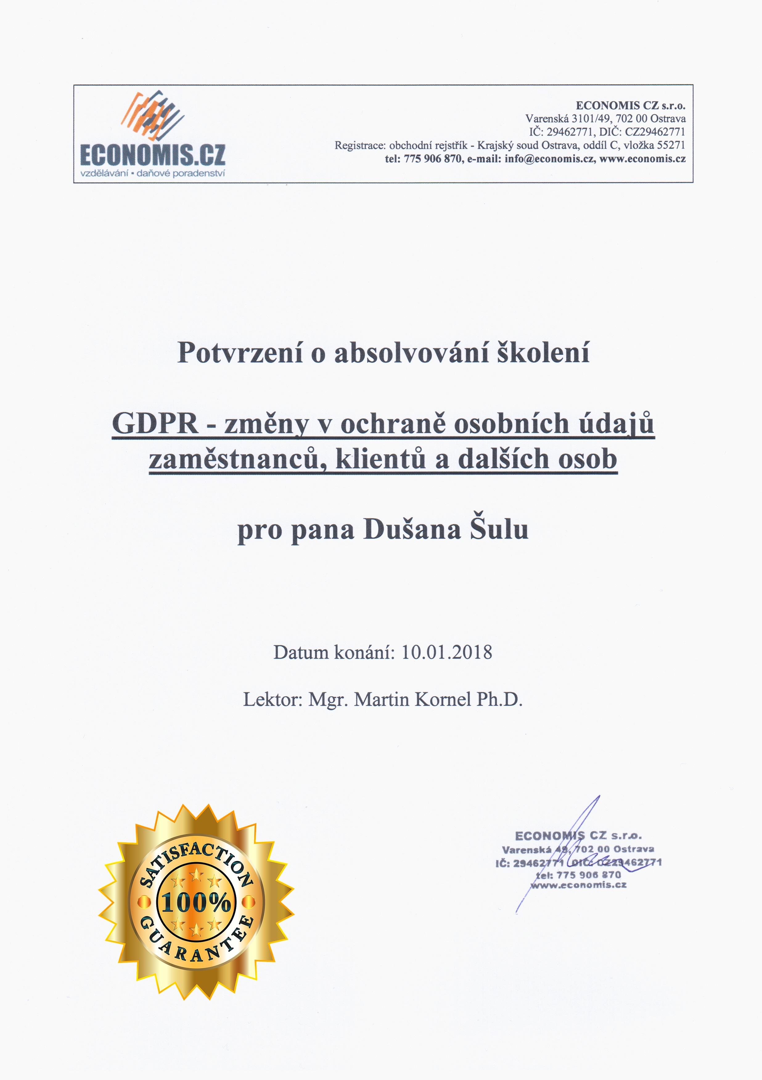 aBoo - GDPR certifikát